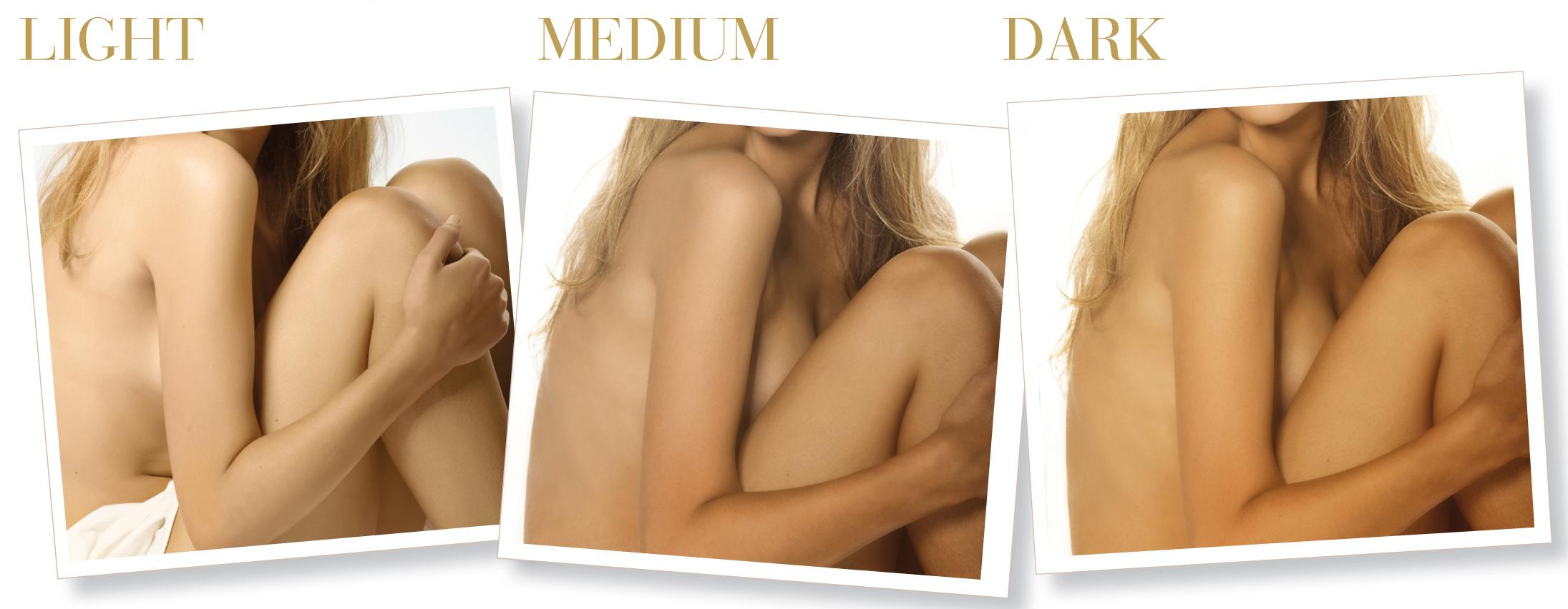 nijanse u airbrush potamnjivanju kože